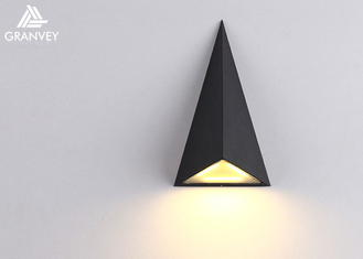 Triangle Up Down Lights Outdoor LED , Black Outdoor Wall Sconce Surface Mounted